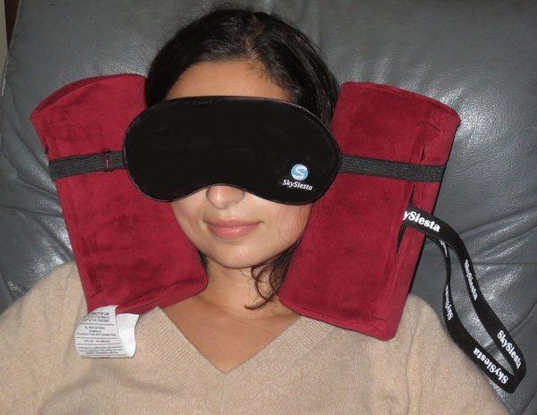 Подушка для путешествий с маской для глаз Skysiesta