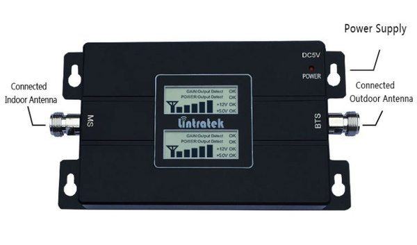 3G-усилитель с 2 экранами Lintratek KW17L-GW