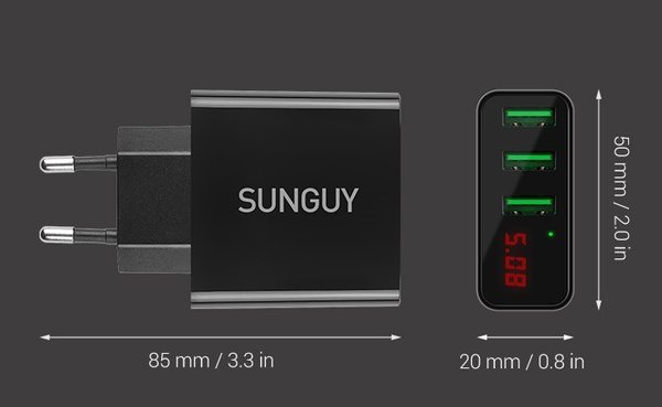 Зарядное устройство с индикатором напряжения Sunguy