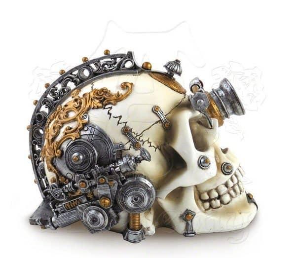Шкатулка в виде стимпанковского черепа