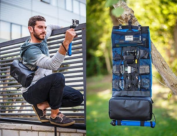 Водоупорная сумка-органайзер для экшн-камер с аксессуарами miggo Agua Storm-proof Action Pack 55