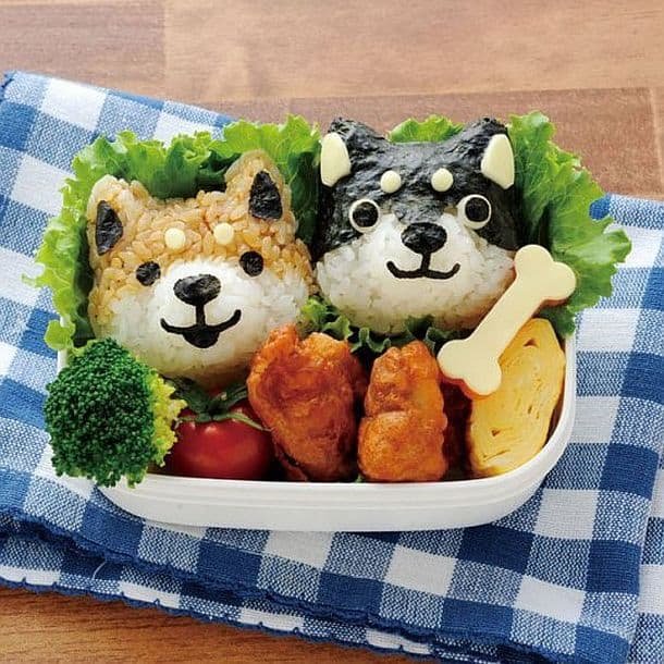 Комплект формочек для риса Dog Faces Bento