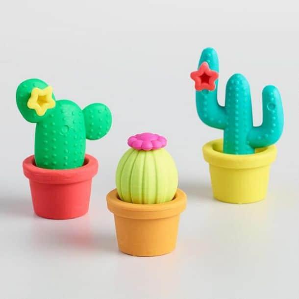 Набор ластиков в виде кактусов Prickly Pals