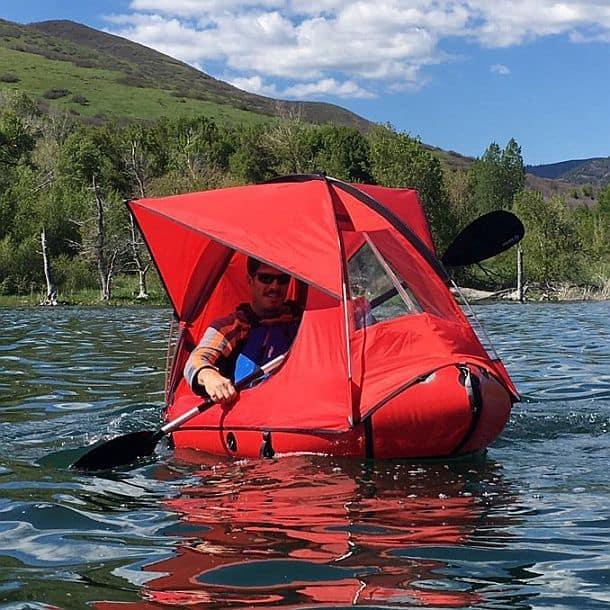 Надувная лодка с тентом Traft