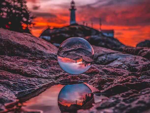 Оптический шар Lensball