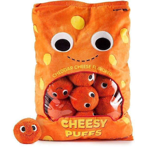 Подушка с плюшевыми мячиками в виде упаковки сырных шариков