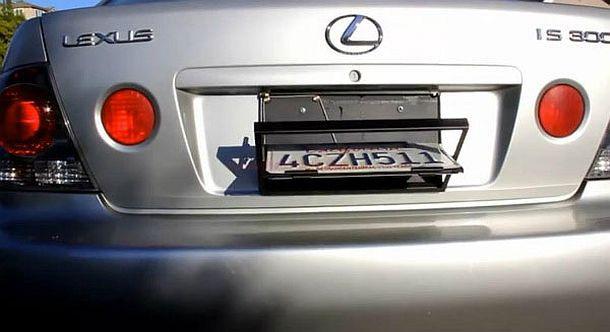 Рамка-перевертыш для автомобильных номеров License Plate Flipper