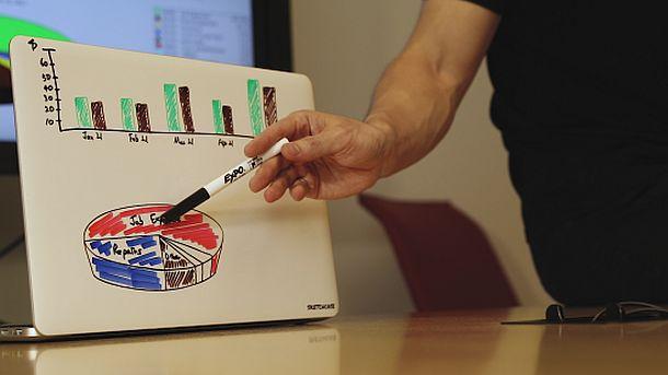Самоклеящаяся маркерная доска на MacBook Sketchcase