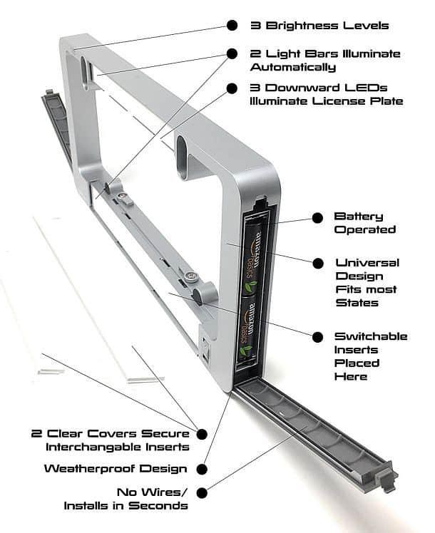 Светодиодная рамка для номерных знаков LumiSign