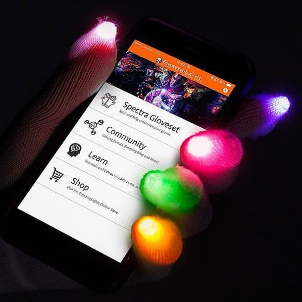 Светящиеся светодиодные перчатки с Bluetooth Emazing Lights eLite Spectra