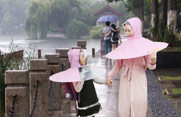 Дождевая накидка в виде зонта