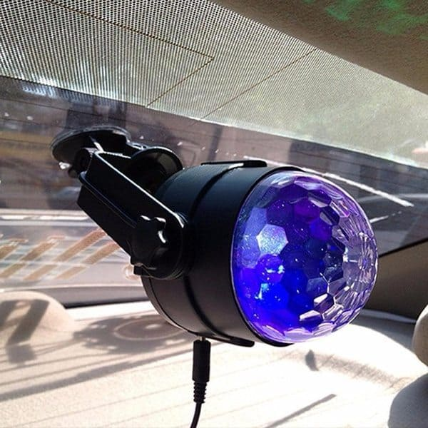 Автомобильный светомузыкальный диско-шар