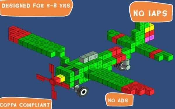 Blox 3D — виртуальный блочный конструктор для детей