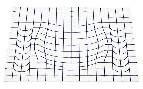 Обеденный коврик, демонстрирующий кривизну пространства-времени