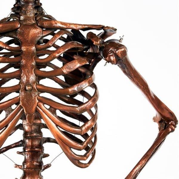 Торшер в виде скелета в натуральную величину