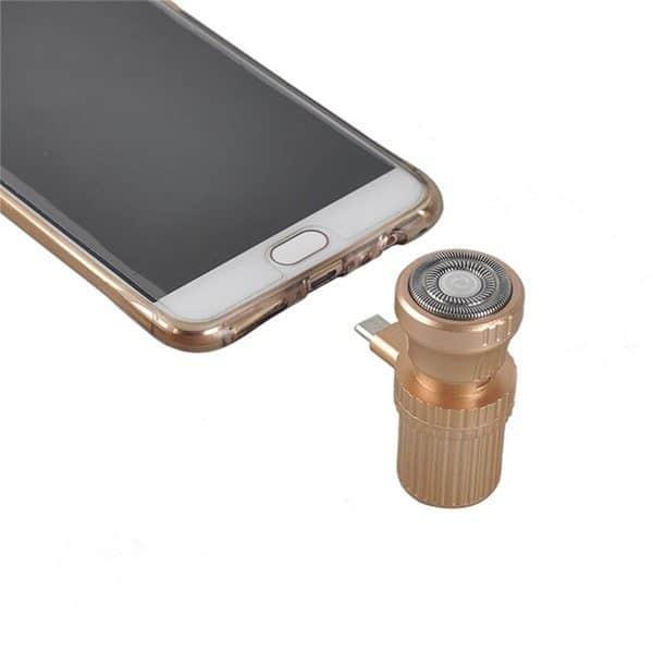 Компактная электробритва, работающая от смартфонов