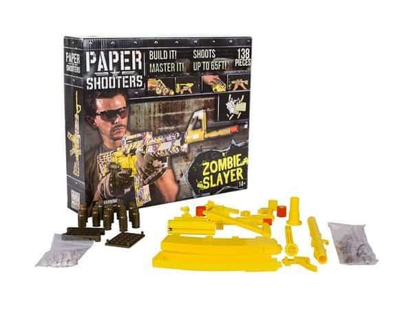 Набор для сборки картонной винтовки, стреляющей бумажными шариками
