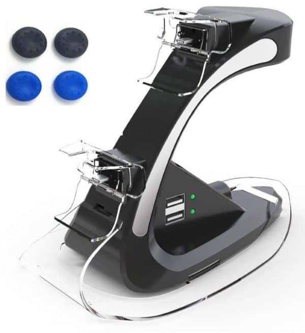 Двойной держатель для геймпадов PS4 с функцией зарядки