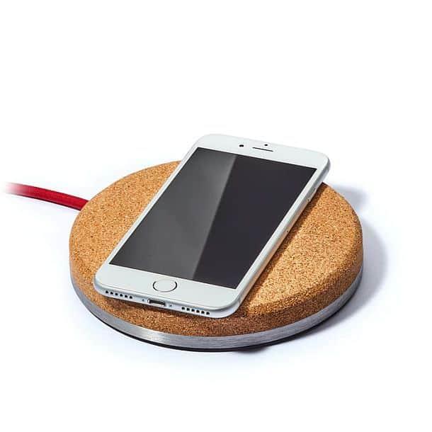 Беспроводное зарядное устройство с натуральным пробковым покрытием