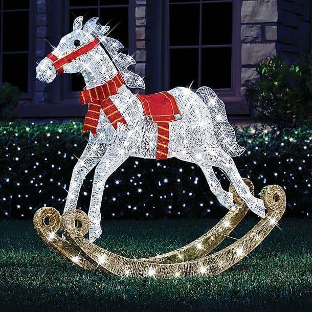 Лошадка-качалка с огоньками