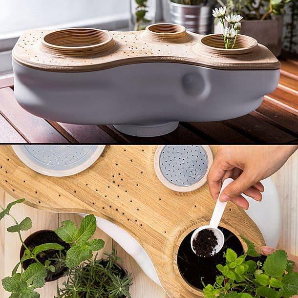 Миниатюрная экосистема для производства компоста в домашних условиях BioVessel