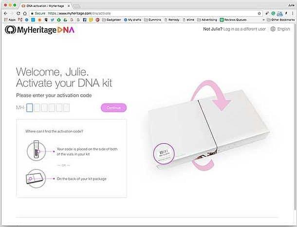 Набор для тестирования ДНК MyHeritage