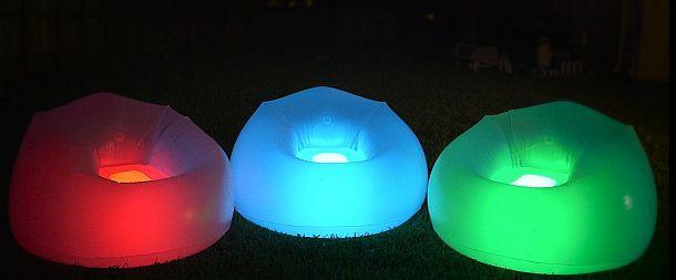 Надувное кресло с подсветкой BloChair