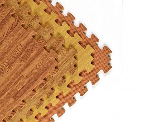 Напольная плитка из пенополиуретана под дерево
