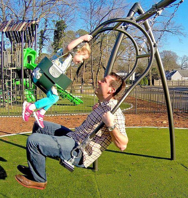 Парные качели для родителей с детьми Expression