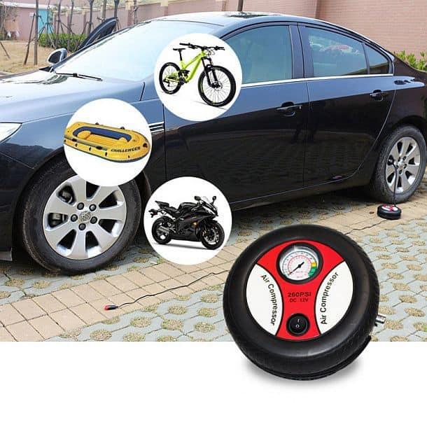 Портативный электрический автомобильный насос – воздушный компрессор