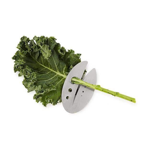 Приспособление для быстрого отделения листьев салатов и зелени от стебельков Kale & Herb Razor
