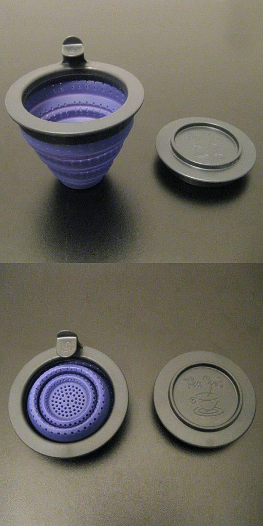 Складное силиконовое заварочное ситечко Tuffy Steeper