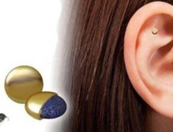 Биомагнитный патч на ухо для бросающих курение