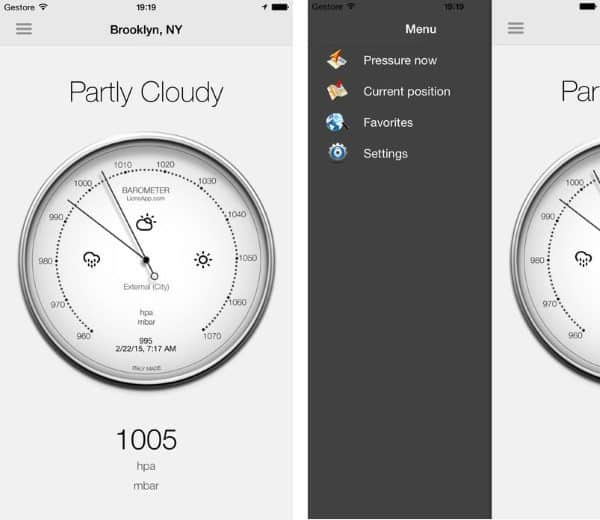 Barometer - приложение для определения атмосферного давления