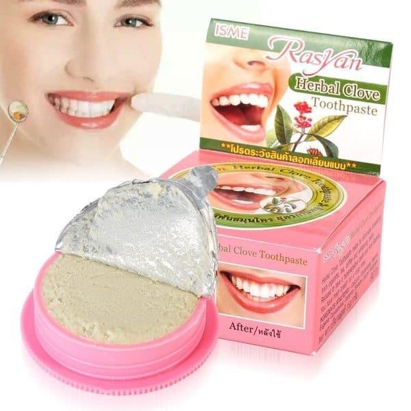 Зубная паста для отбеливания зубов на основе трав