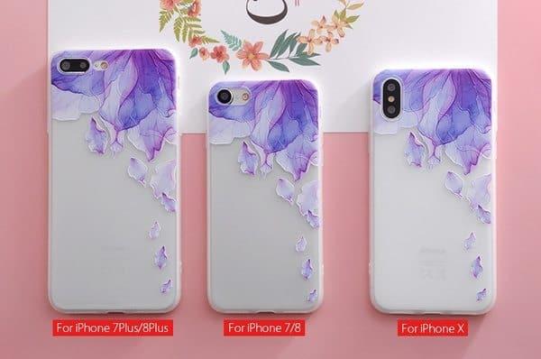 Чехлы для iPhone с украшением в виде цветов