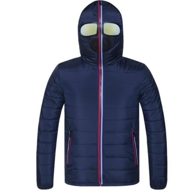 Зимняя куртка с капюшоном-маской