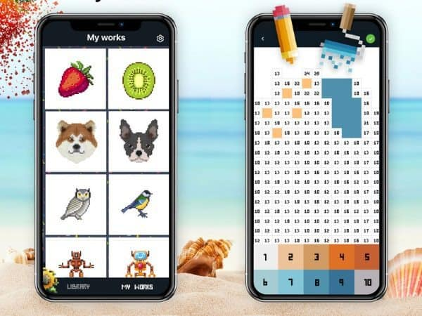 Pixel виртуальная раскраска по номерам для Ios купить и
