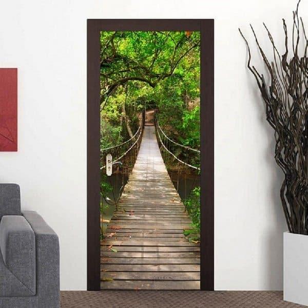 Пейзажные 3D-наклейки на двери
