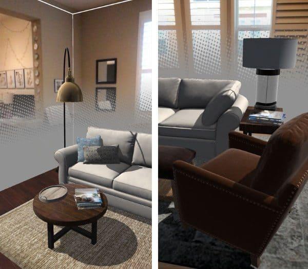 Pottery Barn 3D Room View — подбор предметов интерьера в дополненной реальности