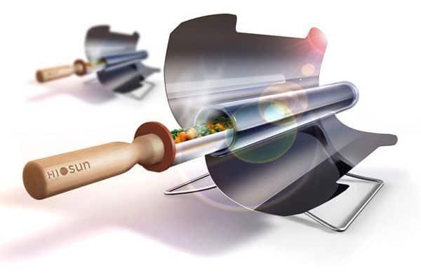 Бездымная печка для барбекю, работающая от энергии солнечного света
