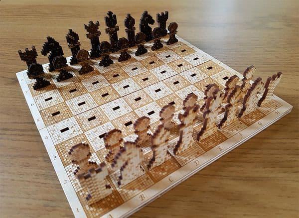 Набор пиксельных 2D-шахмат