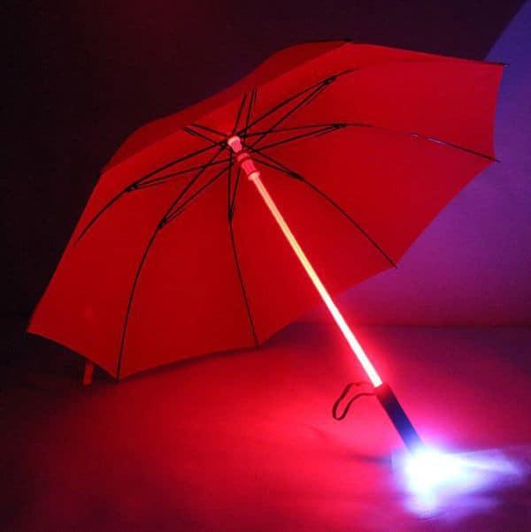 Зонтик со светящейся ручкой и фонариком