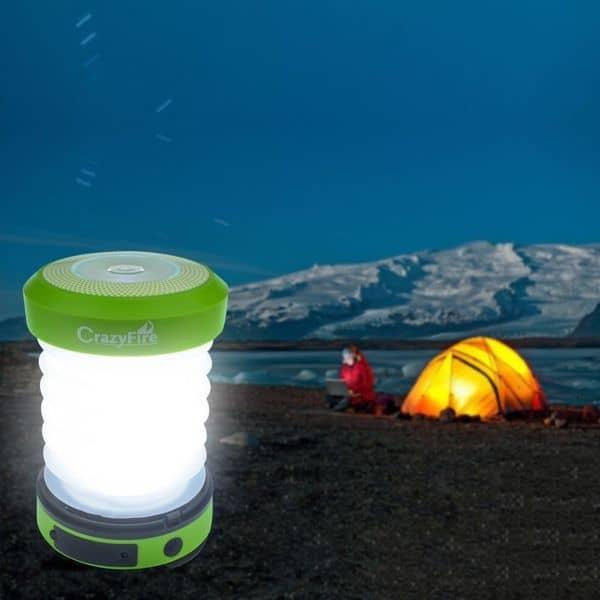 Кемпинговый фонарь на солнечной панели CrazyFire