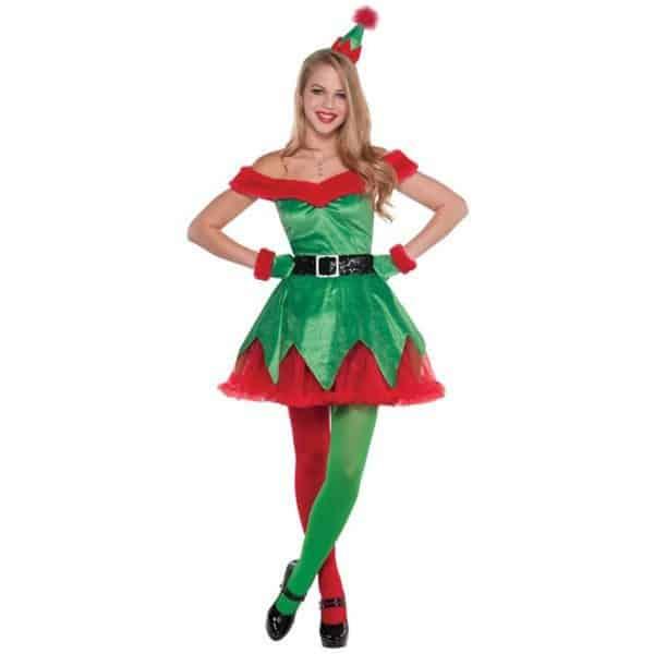 Платье помощницы Санта-Клауса