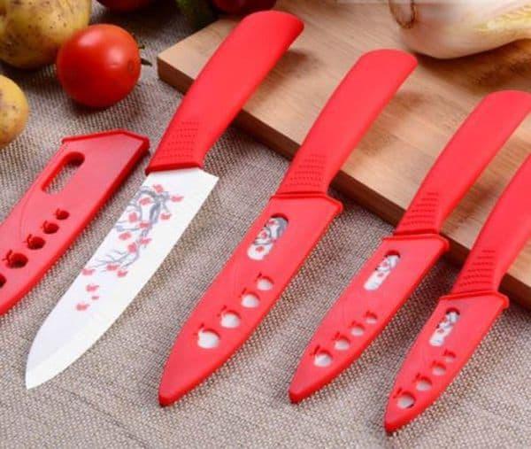 Набор ножей с декоративным рисунком