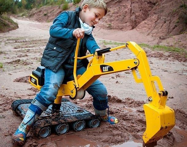 Детский гусеничный экскаватор-каталка Rolly Toys Digger