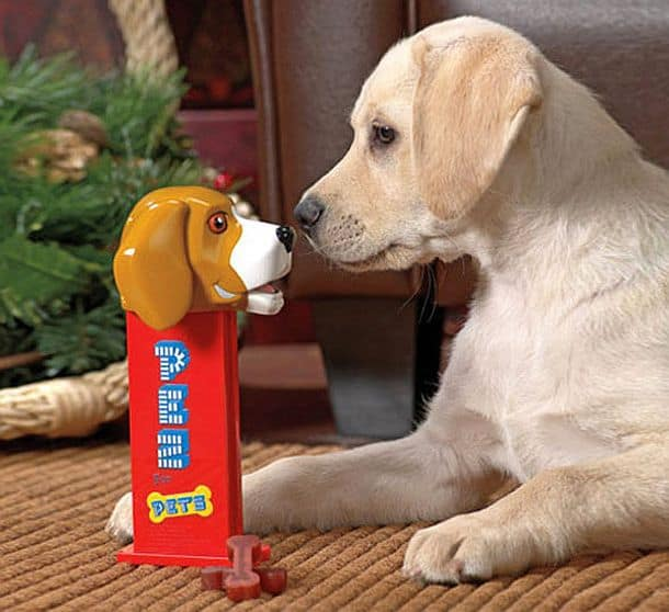 Кормушка для собак в виде гигантского дозатора Pez for Pets