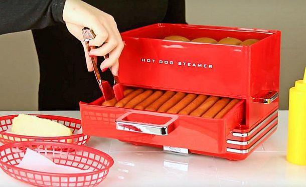 Пароварка для сосисок с нагревателем для булочек Nostalgia