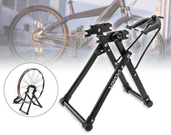 Центровочный стенд для обслуживания велосипедных колёс